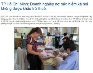 DN nợ BHXH không được khấu trừ thuế